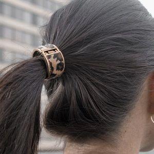 Cheetah Clip Hairbow